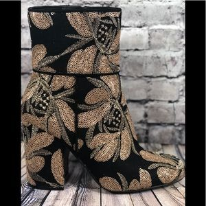 Steve Madden Goldie, embellished canvas booties 7m